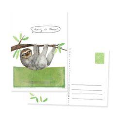 Ansichtkaart met luiaard en tekst hang in there - Studiopie