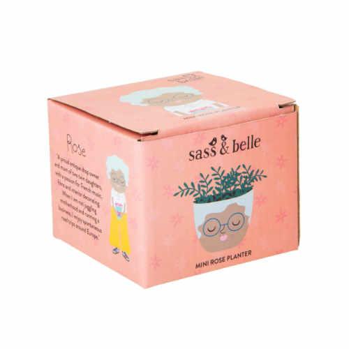 Bloempot met gezichtje Rose verpakking | Sass and Belle