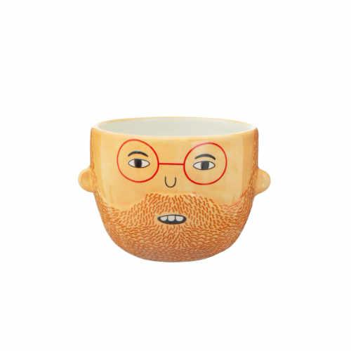 Bloempot vaas met gezichtje Ross met baard en bril | Sass and Belle
