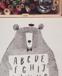 Poster zwart wit abc beer