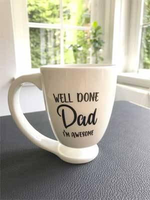 Floating mug -Dad I'm awesome