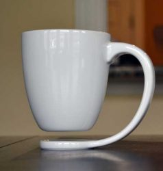 Design mok. Floating mug - zwevende mok