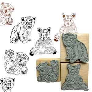 Stempels set van drie beren