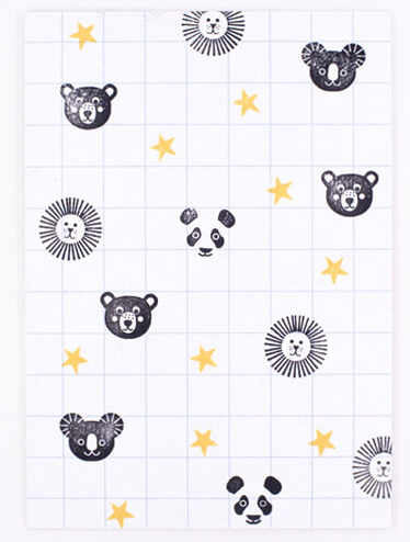 Stempel berenkopje voorbeeld