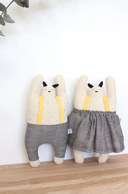 Design knuffel Popetse Tokie en Tokiko design pop