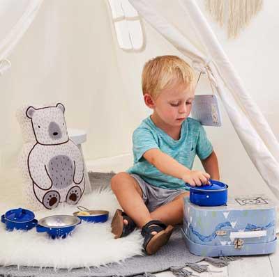 Speelkoffer met kinderkeuken | sass en Belle