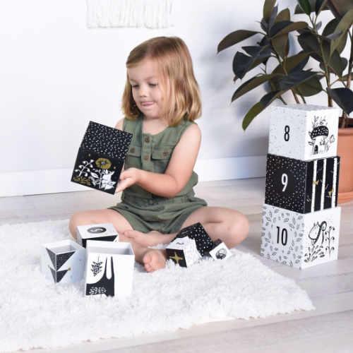 Stapelblokken met cijfers - zwart - wit | Wee gallery