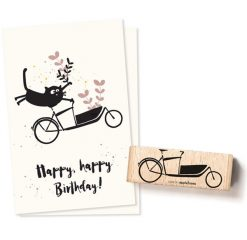 Stempel bakfiets | Cats on Appletrees