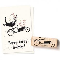 Stempel bakfiets   Cats on Appletrees