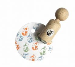 Mini stempel met zittende vos| Miss honey Bird