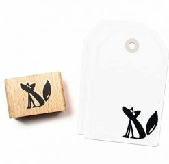 stempel zittende vos Ewald groot | Cats on Appletrees